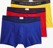 Polo  Contrast Waistband Trunks, Pack Of 3