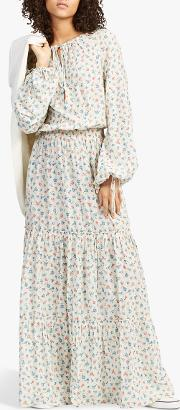 Polo  Ditsy Floral Tiered Long Dress