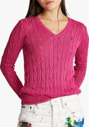 Polo  Kimberly Classic Cable Knit Cotton Jumper