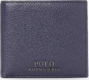 Polo  Pebble Leather Bifold Wallet