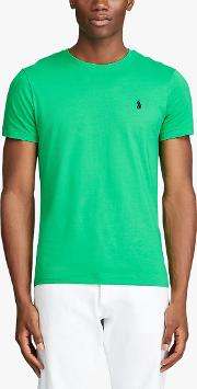 Polo  Washed Cotton Crew Neck T Shirt