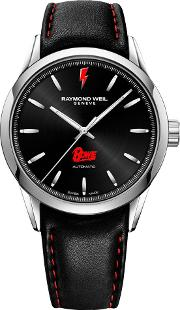 2731 St Bow01 Men's Freelancer Bowie Limited Edition Leather Strap Watch