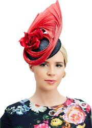 Zoe Pillbox And Fan Occasion Hat