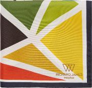 Triangle Blocks Silk Pocket Square