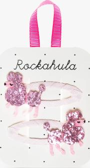 Children's Poodle Glitter Hair Clips, Pack Of 2