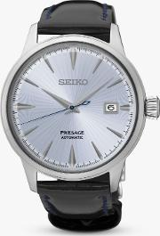 Men's Presage Automatic Date Leather Strap Watch