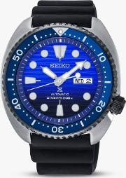 Srpc91k1 Men's Save The Ocean Day Date Automatic Silicone Strap Watch