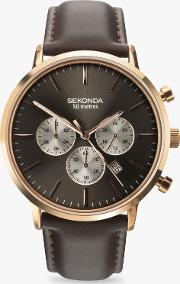 1659.27 Men's Chronograph Leather Strap Watch