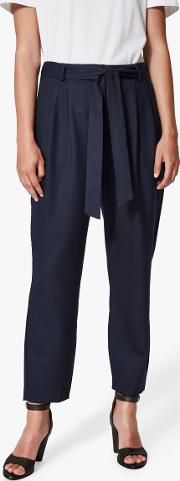 Bio Wool Blend Cropped Trousers