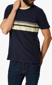 Faded Stripe T Shirt