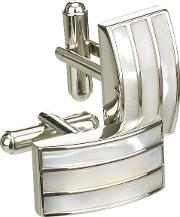 Mother Of Pearl Triple Band Cufflinks