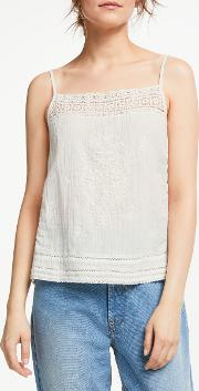 Betsi Embroidered Cami Top