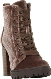 Laurie Lace Up Block Heeled Ankle Boots