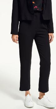Jessie Velour Side Stripe Trousers
