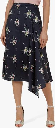 Anabell Flourish Asymmetric Midi Skirt