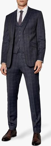 Avo Check Tailored Suit Jacket