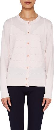 Cherell Scalloped Detail Cardigan