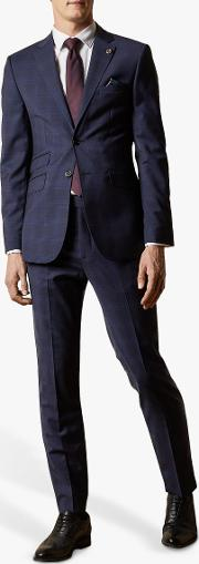 Cooper Wool Check Tailored Suit Jacket
