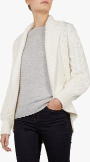 Filena Chunky Cable Knit Cardigan