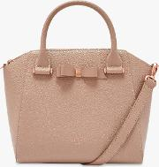 Janne Bow Leather Tote Bag