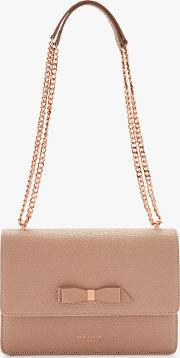 Joanaa Bow Leather Cross Body Bag
