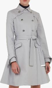 Marrian Knot Cuff Detail Trench Coat