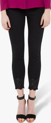 Massie Embroidered Skinny Jeans