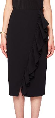 Oden Ruffle Detail Pencil Skirt