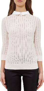 Scallop Collar Jumper, Baby Pink