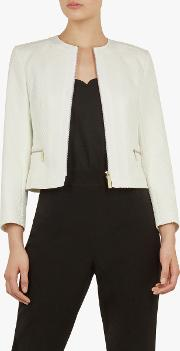 Taahra Cropped Tailored Jacket