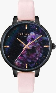 Te50005020 Women's Kate Floral Leather Strap Watch