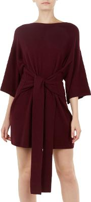 Ted Says Relax Olympy Tie Front Knitted Tunic Dress