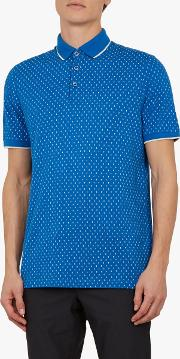 Toff Short Sleeve Circle Print Polo Shirt