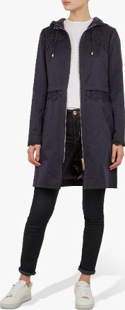 Torine Lace Detail Hooded Parka