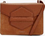 Willoww Leather Suede Cross Body Bag