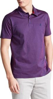 Armstrong Textured Classic Fit Polo Shirt, Navypink