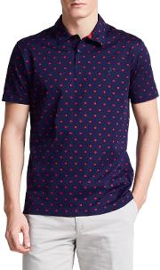 Sion Textured Classic Fit Polo Shirt, Navypink