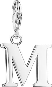 Sterling Silver Charm Club Letter Charm