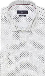 Tailored Fit Mini Paisley Print Shirt