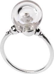 Sterling Silver Crystal Bubble Ring