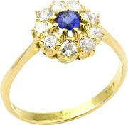 1910s Edwardian 14ct Gold Sapphire And Diamond Engagement Ring, Bluegold