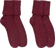 Ashfold School Ankle Socks, Pack Of 2