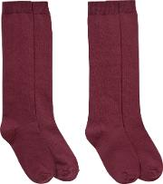 Ashfold School Knee Length Socks, Pack Of 2