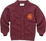 St Columbas Rc Primary School Girl's Cardigan, Red