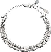 Personalised Double Morse Code Silver Bracelet