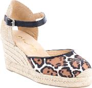 Caceres Two Part Wedge Heeled Court Shoes