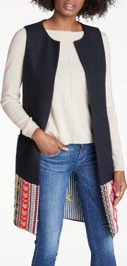 Marcia Embroidered Long Gilet