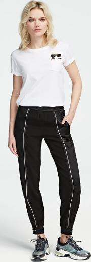 Athleisure Satin Crepe Trousers