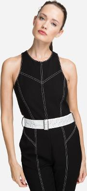 Jumpsuit With Contrasting Seams