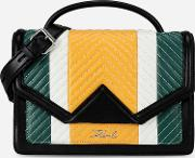 Kklassik Quilted Colourblocked Shoulder Bag